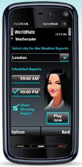 WorldMate Weather Caster