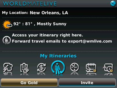 WorldMate for Blackberry
